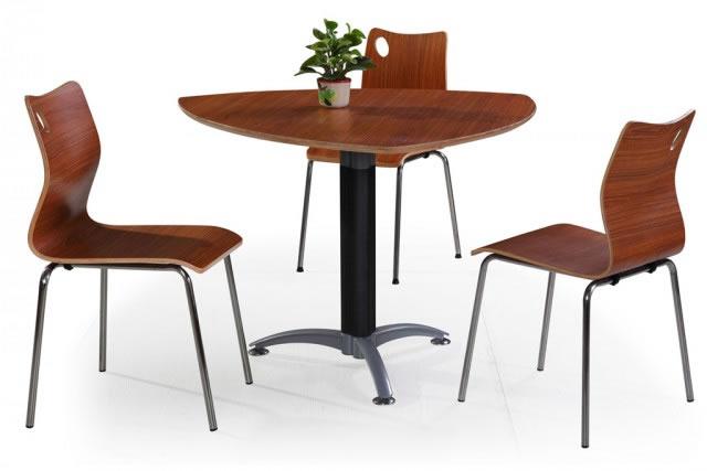 上海三人餐桌椅 三角形美式餐桌 甜品店桌椅 休闲餐桌椅 WCZY004-品源