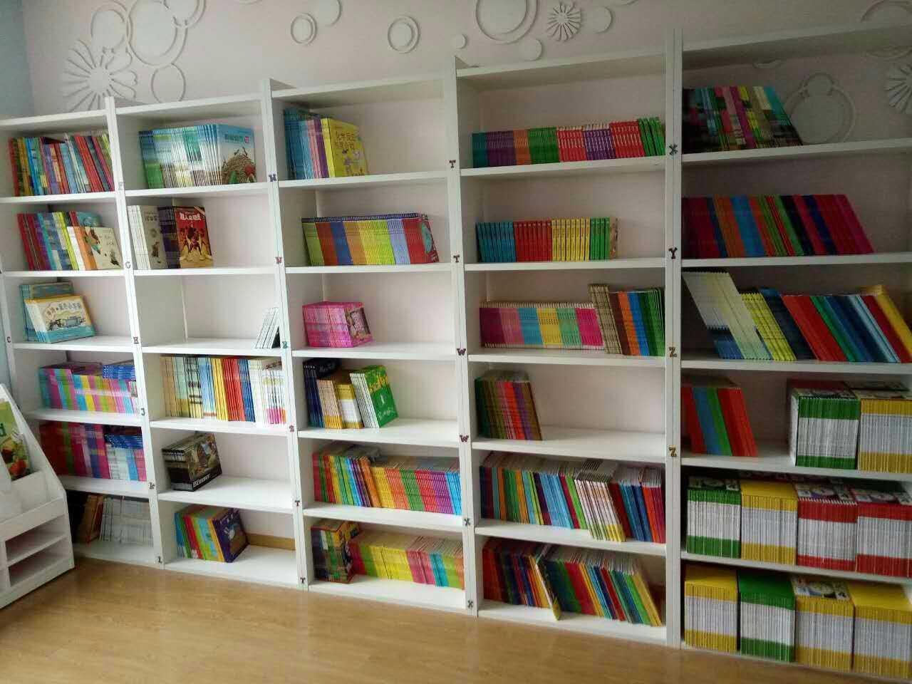 学校图书馆书架 早教中心展示柜 书店书柜置物柜 sj16042601-品源