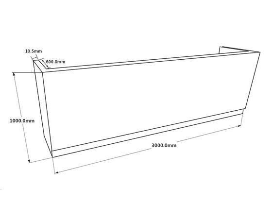 4S店办公前台 公司咨询服务台 防火板长方形前台 QT16031401-品源