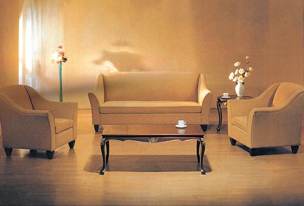 酒店大堂沙发 现代简约沙发 米色沙发组合 JD151139-品源