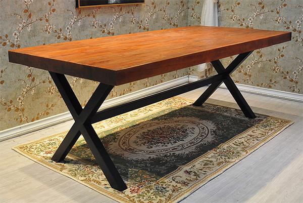 铁艺餐桌椅 木质咖啡桌 长方形咖啡桌 CT151114-品源