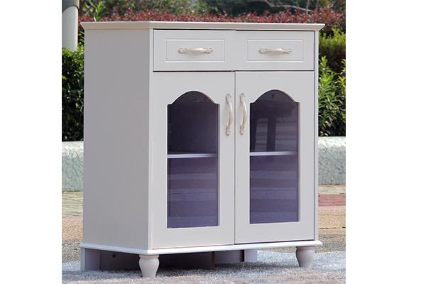 简欧风格茶水柜 乳白色餐边柜 玻璃门茶水柜 CT151104-品源
