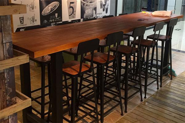 复古铁艺餐桌椅 西餐厅组合桌椅 吧台桌椅 CT151107-品源
