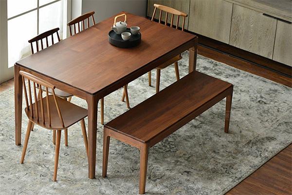 4-6人餐桌椅组合 曲木椅 长条凳 木质餐桌椅 CT151108-品源