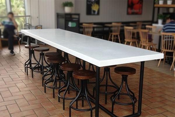 长方形咖啡桌椅 长条咖啡桌 铁艺咖啡椅 CT151109-品源