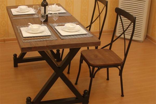 美式乡村西餐桌椅 四人餐桌椅 西餐厅桌椅 CT151110-品源