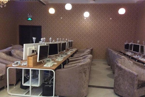 上海网吧桌椅定制 网吧电脑桌椅定做 联排电脑桌椅 DNZ110601-品源
