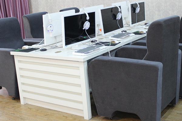 网吧电脑桌沙发组合 上海网吧桌椅 简约防火板电脑桌 DNZ110602-品源
