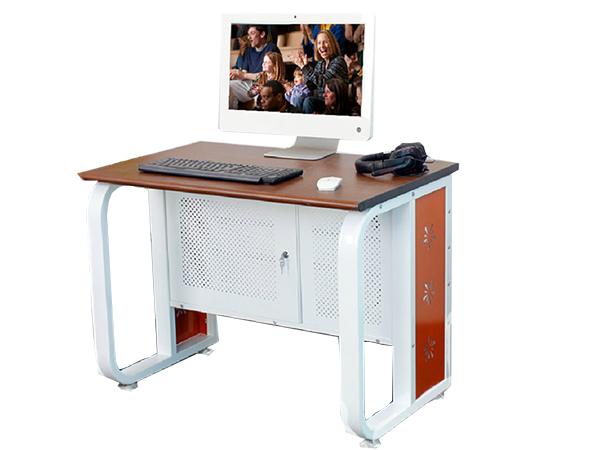 独立式网吧电脑桌 金属钢架电脑桌 现代简易网吧电脑桌 DNZ151005—品源