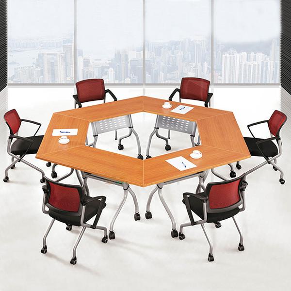 2人位阅览桌 时尚创意阅览桌 带滚轮阅览桌 YL151002-品源
