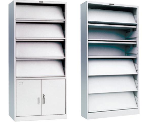 期刊书架 单面阅览架 带柜子展示架 SJ151005-品源