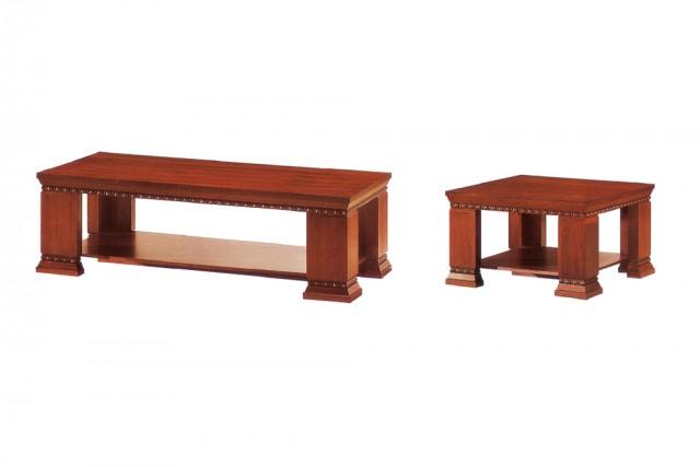 上海实木贴皮茶几 深红色功能茶几 长方形办公茶几 WCJ0011-品源