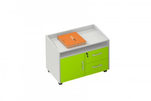 迷你文件柜 绿色文件收纳柜 可移动文件柜 WBWJG018―品源