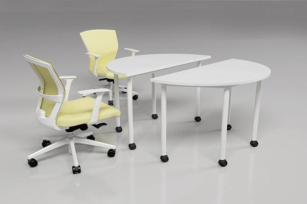 小型洽谈 圆形拼接桌 防火板可移动会议桌 QTZ150903-品源