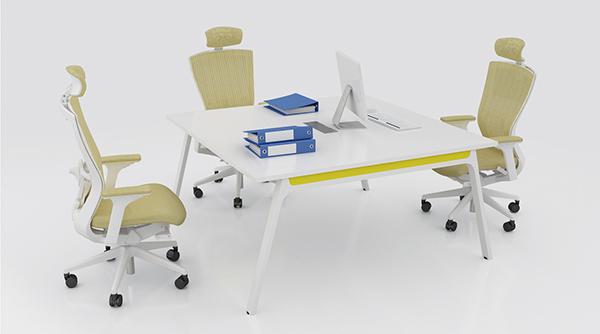 正方形洽谈桌 白色洽谈桌 小型会议桌 QTZ150906―品源