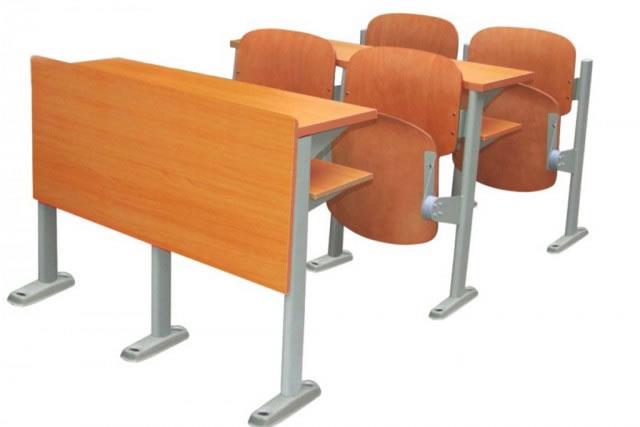 会议桌椅 大学生课桌椅 阶梯教室课桌椅 连体桌椅 KZY150915-品源