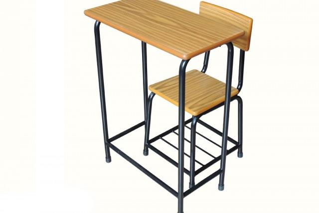 简单学生课桌椅 培训课桌椅 优质铁架课桌椅 KZY150909-品源