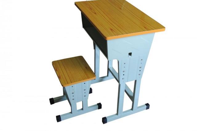 可调节高度学生课桌椅 中小学生课桌椅 铁制课桌凳 KZY150907-品源