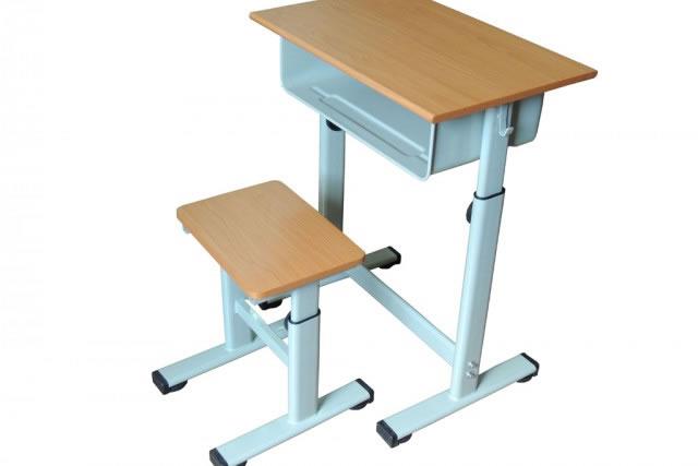 可升降学生桌椅 中小学生课桌椅 单人课桌 KZY150906-品源