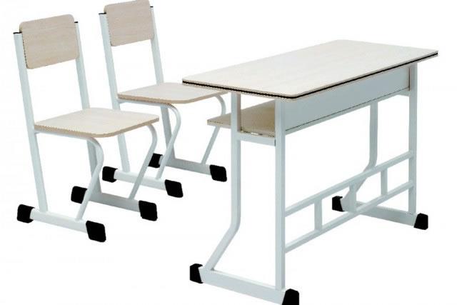 双人学生课桌椅 大学课桌椅 学校学生桌椅 KZY150903-品源