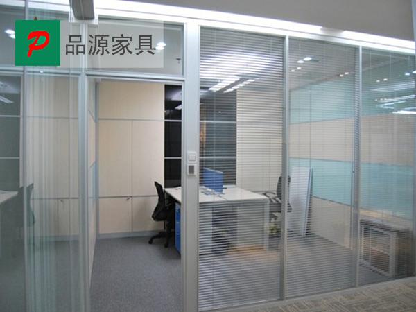 钢化玻璃隔断 百叶隔断 财务室高隔断 GGD150911—品源