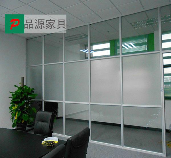 磨砂玻璃隔断 经理办公高隔断 单层玻璃高隔断 GGD150915―品源