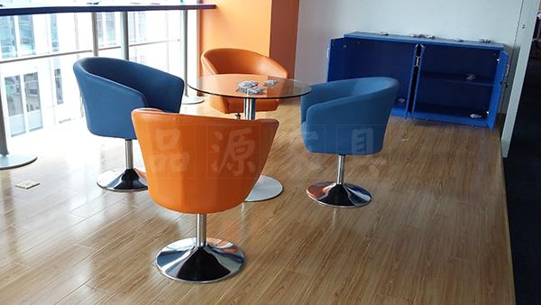咖啡厅桌椅 上海酒吧餐桌椅 玻璃桌面餐桌椅 圆形桌椅 WCZY026-品源