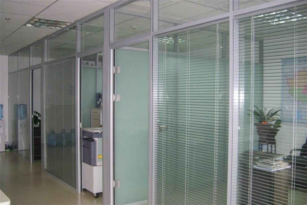 上海玻璃隔断墙 办公室玻璃隔断墙 双玻百叶隔断 WGGP001-品源