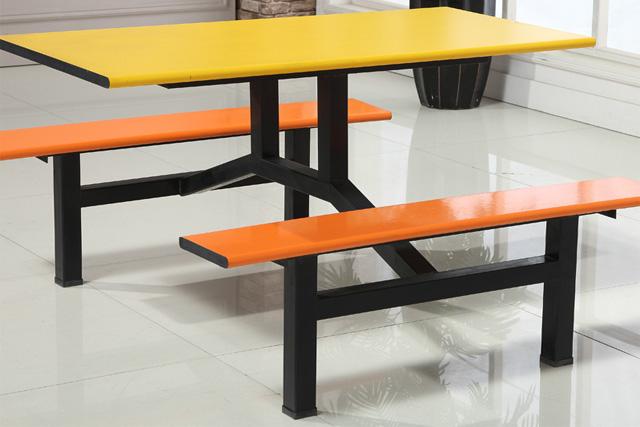 四人位快餐桌椅 食堂连体餐桌椅 一桌四椅组合 WCZY023-品源