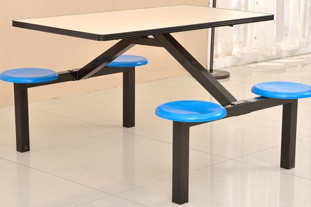 快餐厅餐桌椅组合 食堂用餐桌椅 上海塑钢快餐桌椅 WCZY021-品源