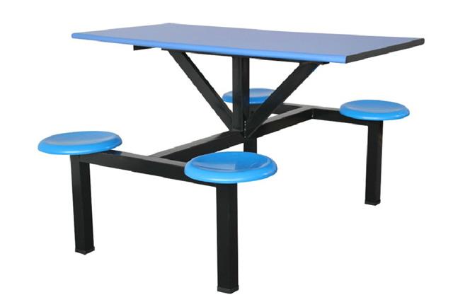职员餐厅餐桌椅 上海学生食堂餐桌椅 四人位快餐桌 WCZY020-品源
