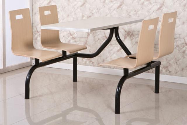 餐桌椅连体组合 学校食堂餐桌椅 上海快餐店餐桌椅 WCZY014-品源