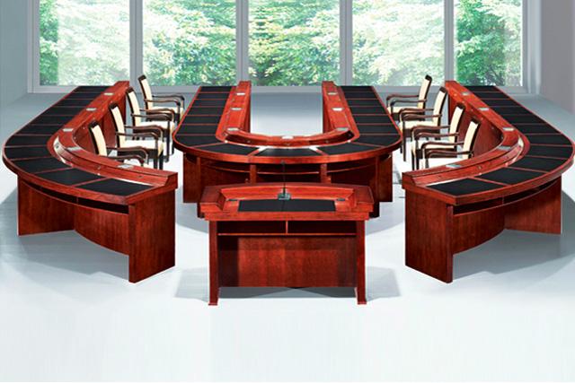 实木喷漆会议桌 U型会议桌 报告式会议桌 SHYZ046-品源