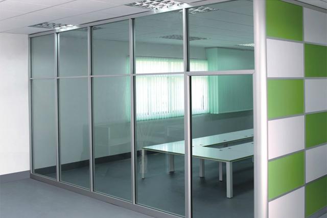 新款办公室隔断 双玻高隔断 铝合金玻璃隔断墙 WGGP019-品源