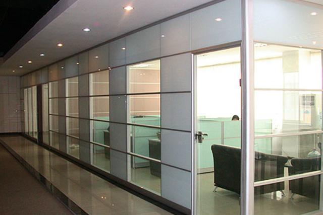 上海玻璃面板隔�� 玻璃面板�M合隔�� �k公室玻璃隔��� WGGP015-品源