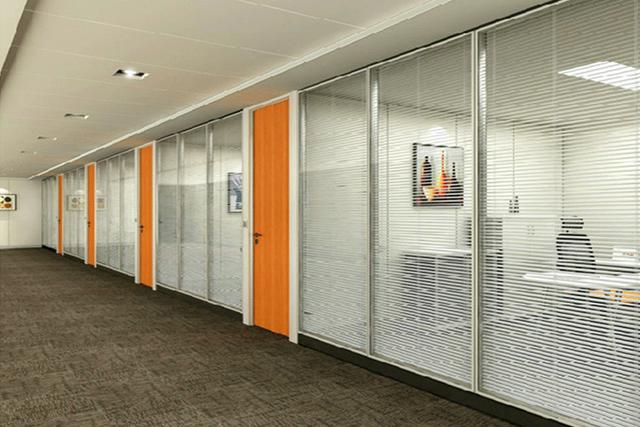 铝合金百叶屏风 钢化玻璃隔间 办公室会议室隔断 WGGP013-品源