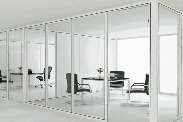 现代办公室隔断 屏风隔断墙 双层钢化玻璃隔断 WGGP010-品源