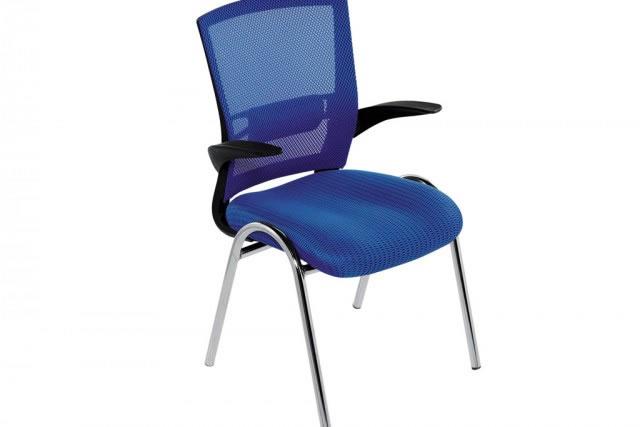简单会议椅 网布培训椅 带扶手培训椅子 HYY036-品源