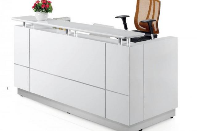 板式办公前台 白色长方形办公前台 WQT001