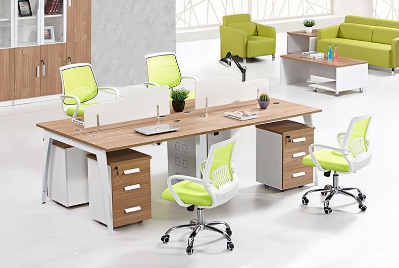 四人位办公桌-四人位办公桌定制-四人用办公桌