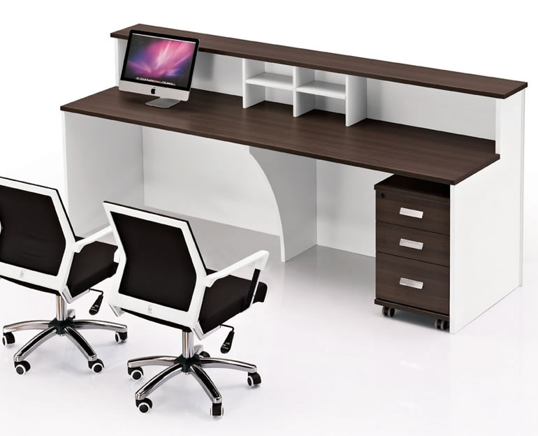 前台双人位办公桌 公司前台办公