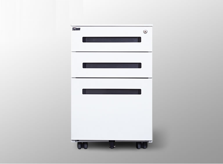 移动三抽屉柜带锁—三抽屉活动柜