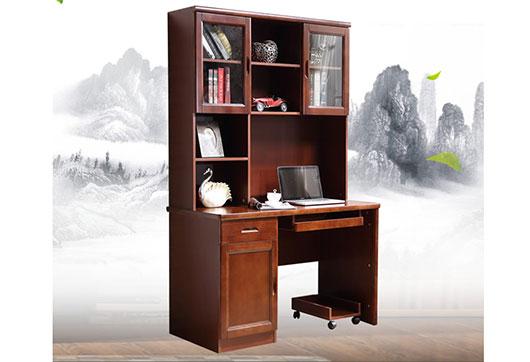 书桌书柜组合-中式书桌柜-中式书